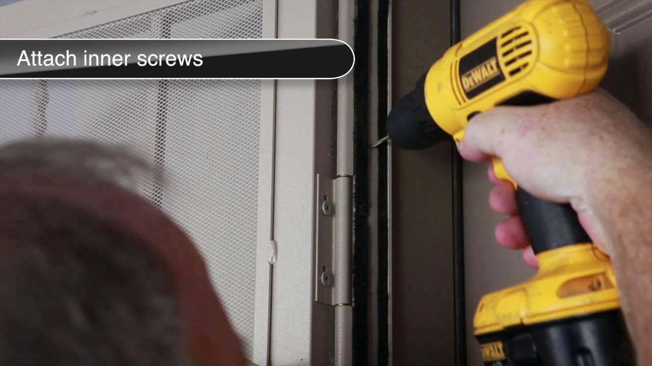 security screen door installation instructions