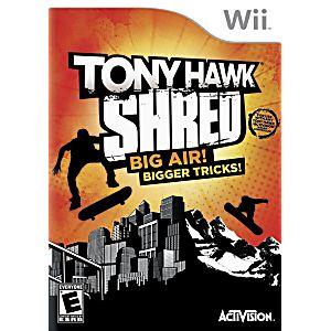 tony hawk shred wii instruction manual