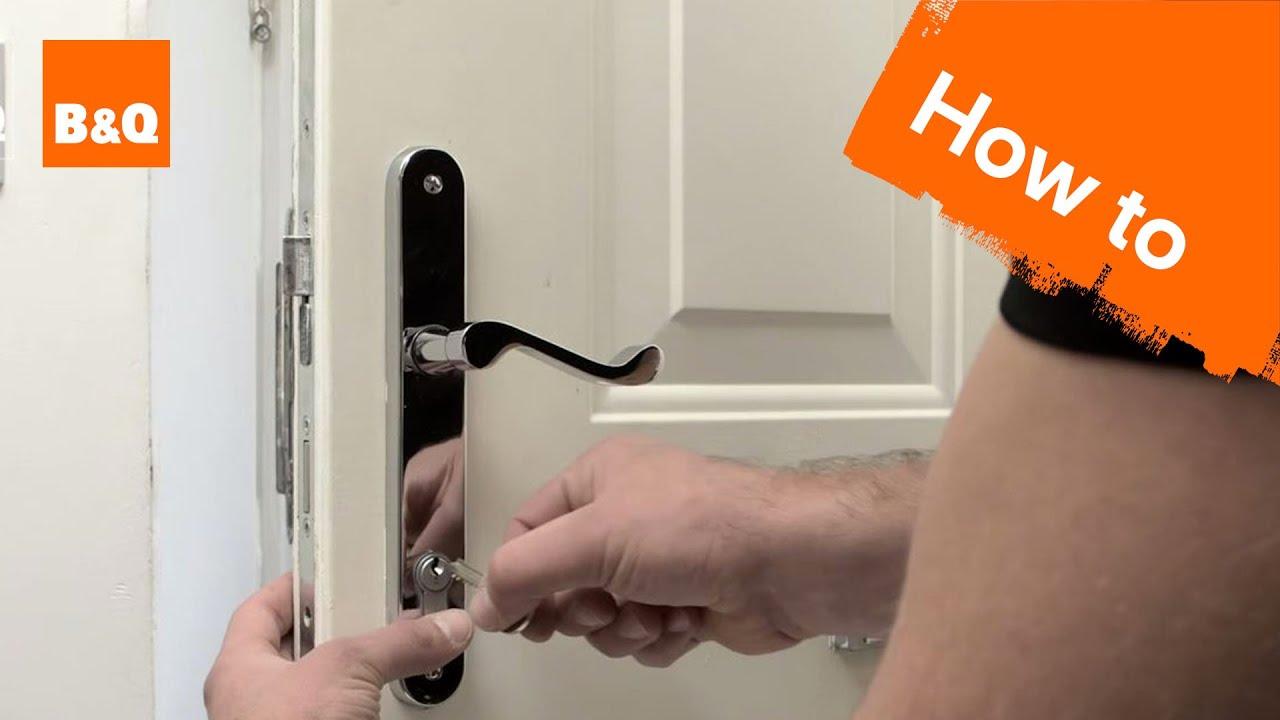 yale cylinder lock fitting instructions